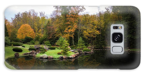 Foliage Galaxy Case - Japanese Garden In Early Autumn by Tom Mc Nemar