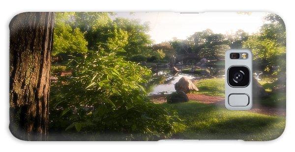 Japanese Garden In The Morning Galaxy Case