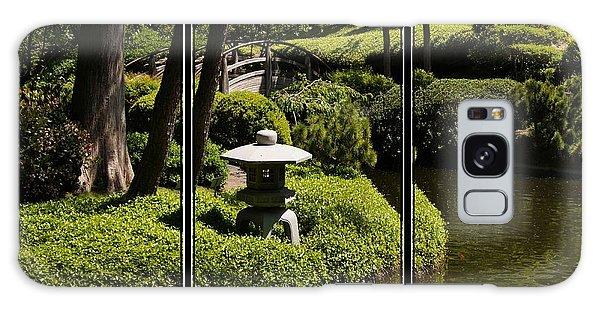 Japanese Garden Triptych Galaxy Case by Kathy Churchman