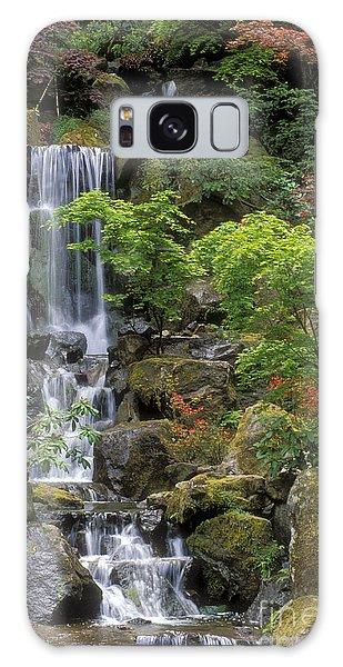 Japanese Garden Waterfall Galaxy Case