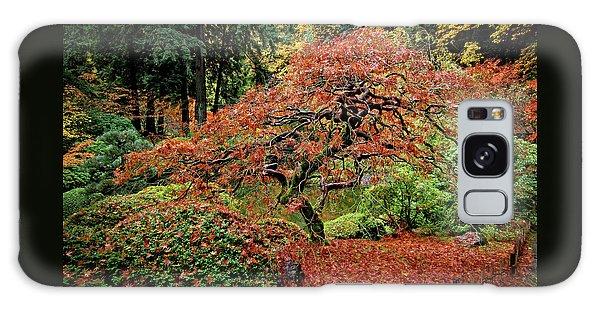 Japanese Maple At The Japanese Gardens Portland Galaxy Case by Thom Zehrfeld