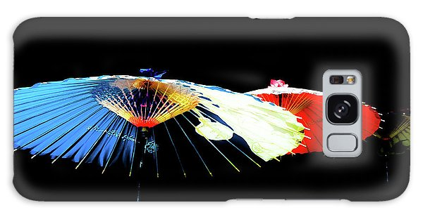 Japanese Umbrellas Assorted Colors Galaxy Case