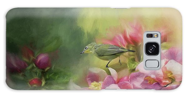 Japanese White-eye On A Blooming Tree Galaxy Case