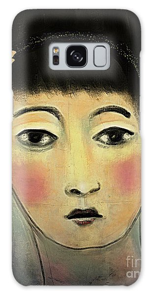 Japanese Woman With Butterflies Galaxy Case by Alexis Rotella