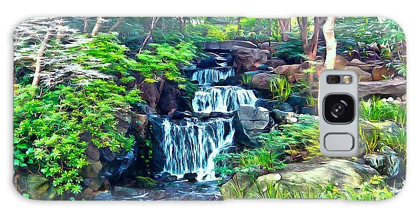 Japanese Waterfall Garden Galaxy Case