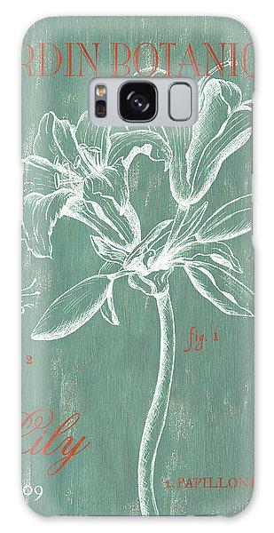 Flora Galaxy Case - Jardin Botanique Aqua by Debbie DeWitt