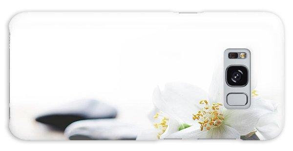 Jasmine Flower On Spa Stones Galaxy Case