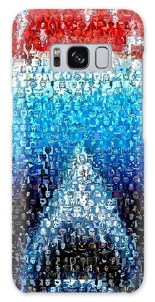Jaws Horror Mosaic Galaxy Case by Paul Van Scott
