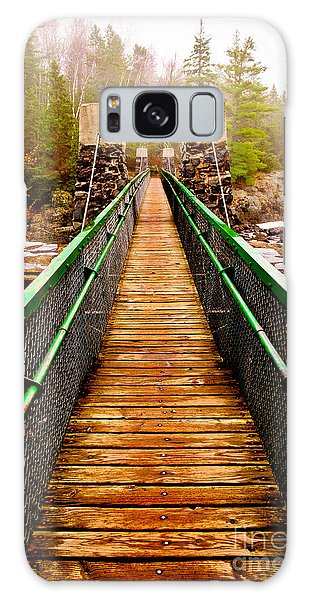 Jay Cooke Swinging Bridge In Fog Galaxy Case