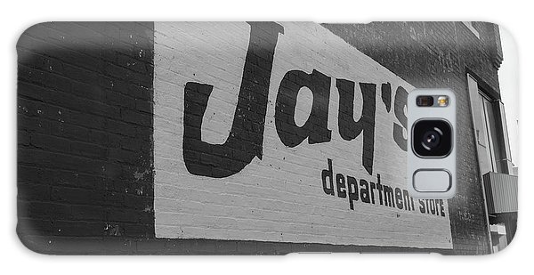 Galaxy Case featuring the photograph Jay's Department Store In Bw by Doug Camara