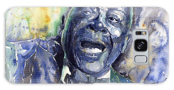 B B King Galaxy Case - Jazz B.b.king 04 Blue by Yuriy Shevchuk