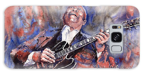 B B King Galaxy Case - Jazz B B King 05 Red A by Yuriy Shevchuk