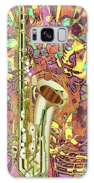 Galaxy Case featuring the digital art Jazz Me Up by Eleni Mac Synodinos