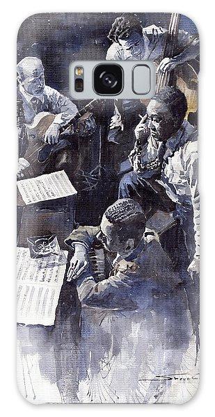 Watercolour Galaxy Case - Jazz Parker Tristano Bauer Safransky Rca Studio Ny 1949 by Yuriy Shevchuk