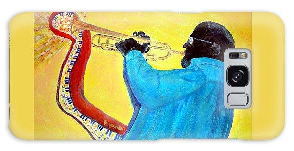 Jazzy Trumpet Player Galaxy Case