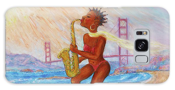 Galaxy Case featuring the painting Jazz San Francisco by Xueling Zou