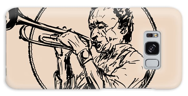 Hard Bop Galaxy Case - Jazz Trumpet Player Loose Portrait by Idan Badishi