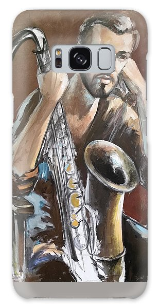 Jazz.saxophone Player Painting  Galaxy Case
