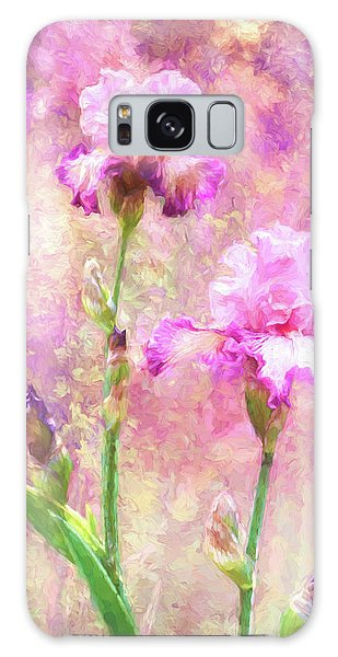 Jazzy Irises Galaxy Case by Diane Schuster