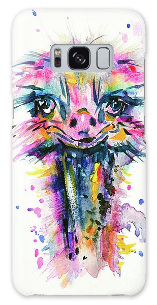 Galaxy Case featuring the painting Jazzzy Ostrich by Zaira Dzhaubaeva