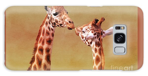 Je T'aime Giraffes Galaxy Case