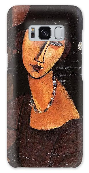 Jeanne Hebuterne With Hat And Necklace Galaxy Case