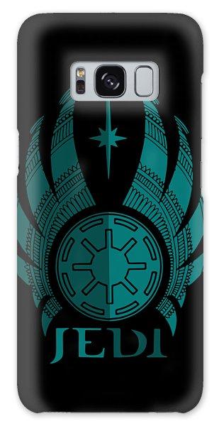 Jedi Symbol - Star Wars Art, Blue Galaxy Case