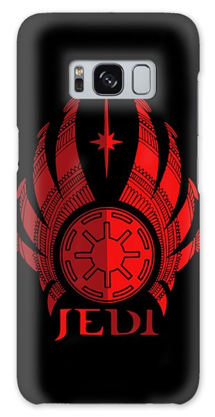 Jedi Symbol - Star Wars Art, Red Galaxy Case