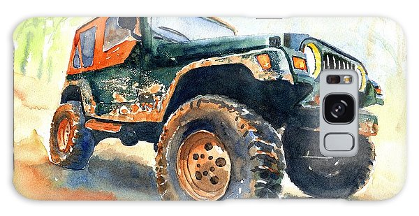 Jeep Wrangler Watercolor Galaxy Case