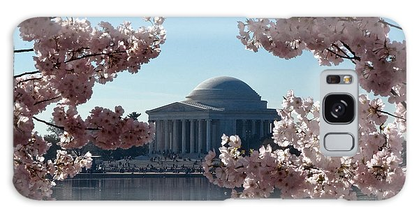 Jefferson Memorial At Cherry Blossom Time On The Tidal Basin Ds008 Galaxy Case