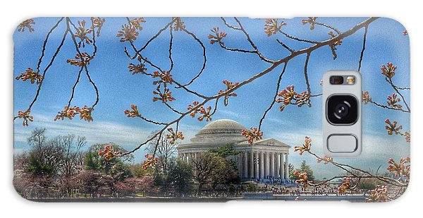Jefferson Memorial Galaxy S8 Case - Jefferson Memorial - Cherry Blossoms by Marianna Mills