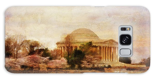 Jefferson Memorial Galaxy S8 Case - Jefferson Memorial Just Past Dawn by Lois Bryan