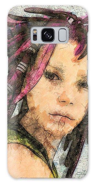 Jehanne Galaxy Case by Jutta Maria Pusl