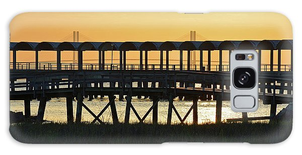 Jekyll Island Pier At Sunset Galaxy Case by Bruce Gourley