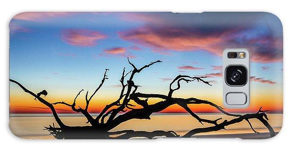 Jekyll Island Sunrise On Driftwood Beach Galaxy Case