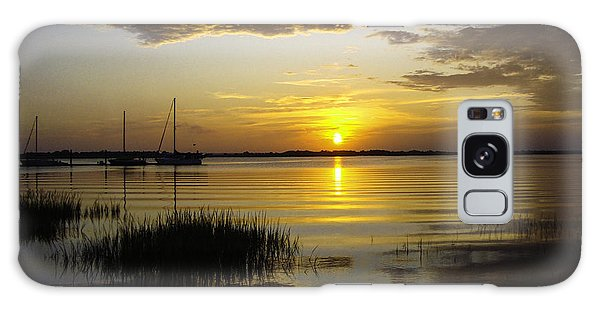 Jekyll Island Sunset Galaxy Case by Elizabeth Eldridge