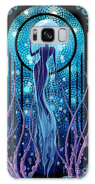 Art Deco Galaxy S8 Case - Jellyfish Mermaid by Sassan Filsoof