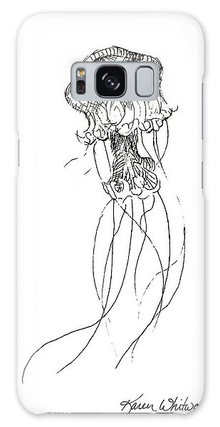Jellyfish Sketch - Black And White Nautical Theme Decor Galaxy Case