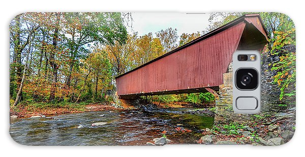 Jericho Covered Bridge In Maryland During Autumn Galaxy Case