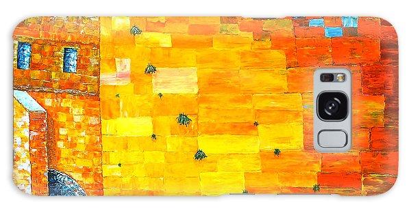 Jerusalem Wailing Wall Original Acrylic Palette Knife Painting Galaxy Case