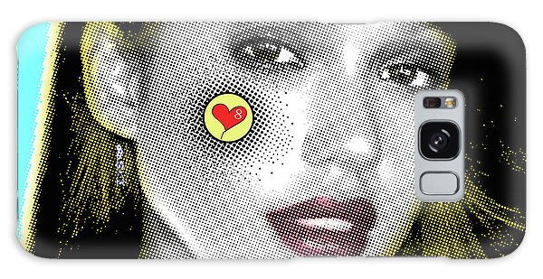 Jessica Alba Pop Art, Portrait, Contemporary Art On Canvas, Famous Celebrities Galaxy Case