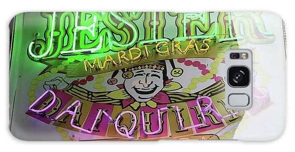 Jester Mardi Gras Sign Galaxy Case by Steven Spak