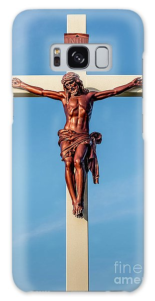 Jesus Crucifix Against The Sky 3 Galaxy Case by Gary Whitton