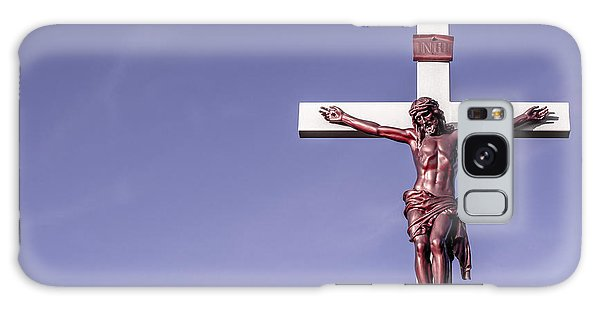 Jesus Crucifix Against The Sky Galaxy Case by Gary Whitton