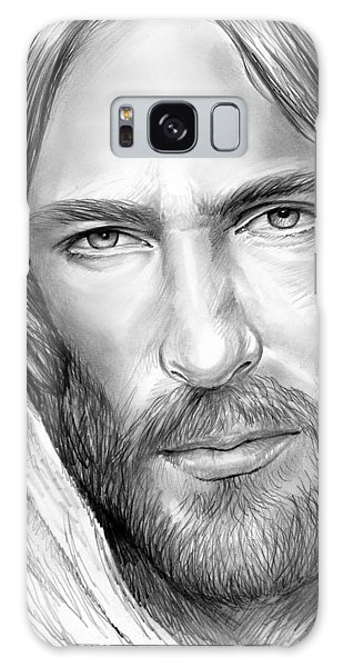 Jesus Face Galaxy Case by Greg Joens