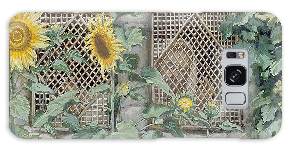 Wall Paper Galaxy Case - Jesus Looking Through A Lattice With Sunflowers by Tissot