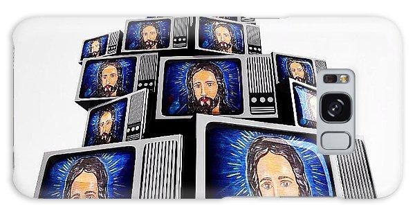 Jesus On Tv Galaxy Case