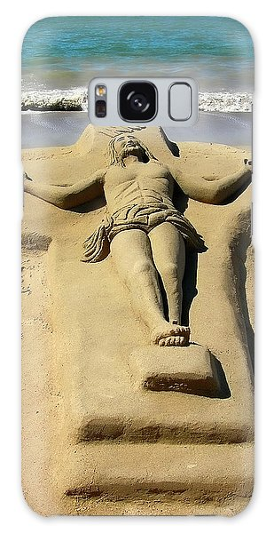 Jesus Sand Sculpture Galaxy Case