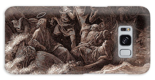 Jesus Stilling The Tempest Galaxy Case by Gustave Dore