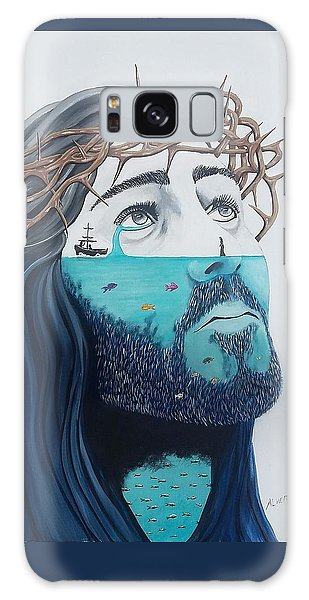 Jesus Walks On The Water Galaxy Case